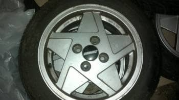 Retro Zender Fælge. med dæk - Danmark - 14″ fælge m/dæk. 4 stk. Meget pæne, alder taget i betragtning. Har sat på Polo, men passer sikkert andre modeller. dækkene dur ikke - Danmark