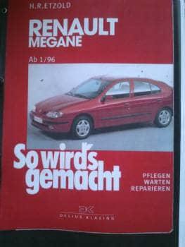 Rep. håndbog - Danmark - Renault Megane 1996- komplet kopi på tysk. - Danmark
