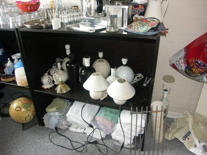forskellige møbler