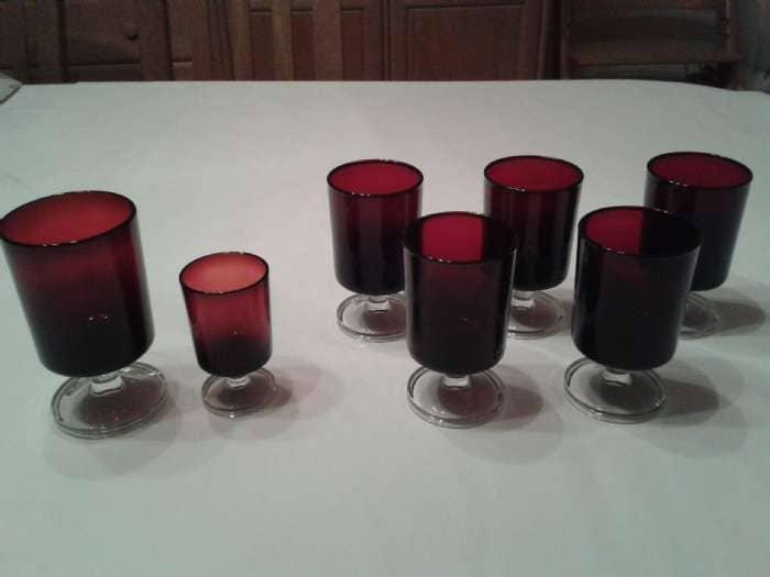 Røde glas