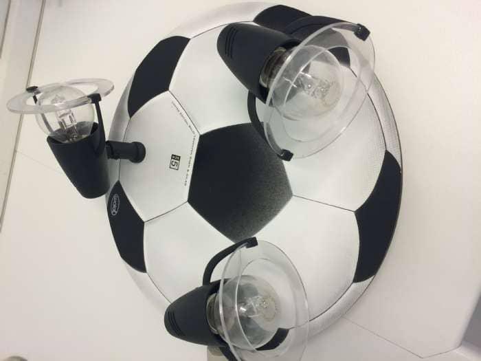 Fodbold loftlampe