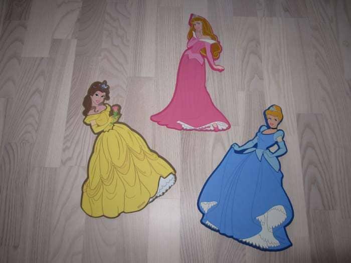 Disney prinsesse vægdekoration - Danmark - 3 stk disney prinsesse vægdekorationer sælges. - Danmark