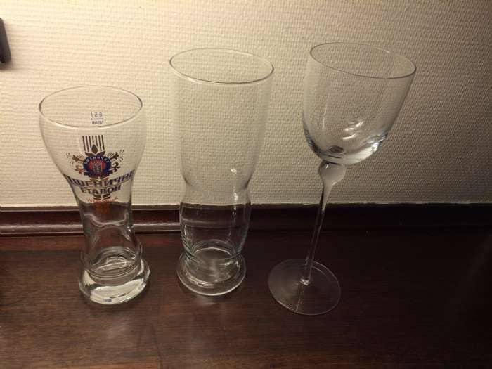 Øl-og vinglas