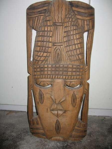 Afrikansk maske - Søndergade 28,balling - Original Afrikansk maske udført i træ. Masken er hentet i Afrika for mange år siden. Er rigtig flot og originalt udført. - Søndergade 28,balling