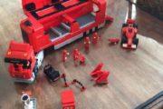 Lego Ferrari F1 lastbil og bil