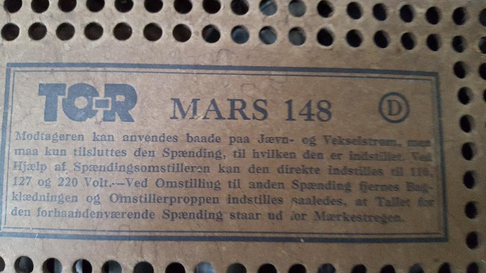 Radio mrk. Tor Mars 148