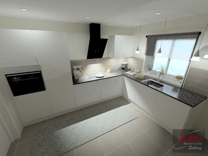 Komplet køkken med hvidevarer