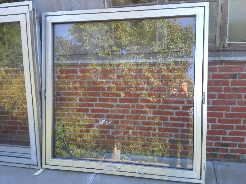 5 stk aluminiums vinduer