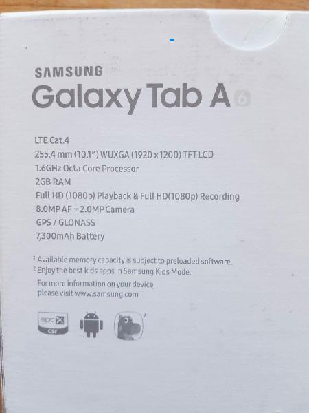 Samsung galaxy tab A 6 - Hvamvej 4 - Med original kasse og tilbehør kvittering følger med købt den 23-12-2016. Nypris 1899 kr Skal afhentes ved holstebro. - Hvamvej 4