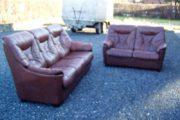 læder sofa 3 + 2