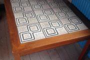 Teak-sofabord m/lyse kakler