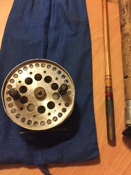 Splitcane fiskestang,hjul+pose