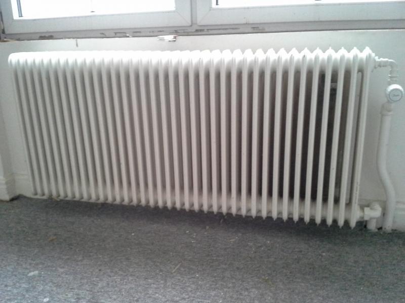 Ældre ribbe radiator, 2 stk - Skive - Ældre ribbe radiator m/ophæng, men uden termostat, 1 stk 145×65 cm og 1 stk 168×65 cm begge er 14 cm dyb, pr stk 100 eller samlet kr 150 - Skive