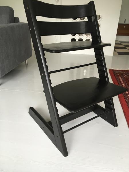 Trip trap stol - Danmark - Nymalet, gammel model, uden bøjle - Danmark