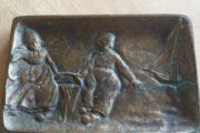 Bronze askebæger M/ motiv