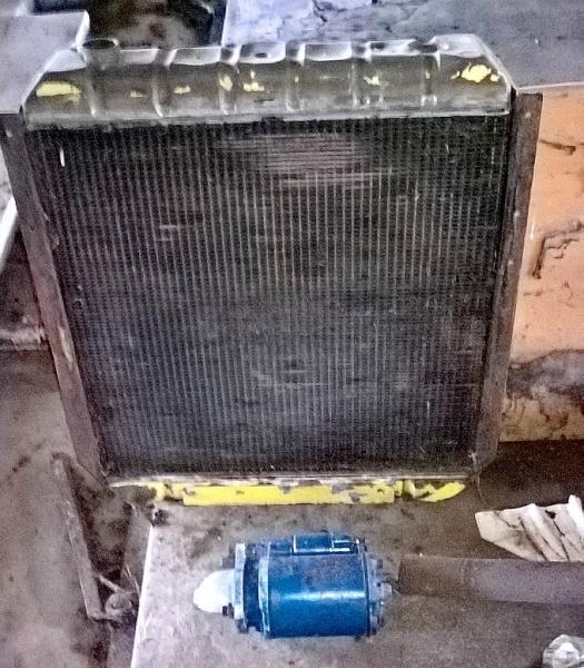 Køler og startmotor