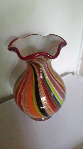 Glasfad og vase