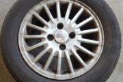4 dæk og fælge til ford