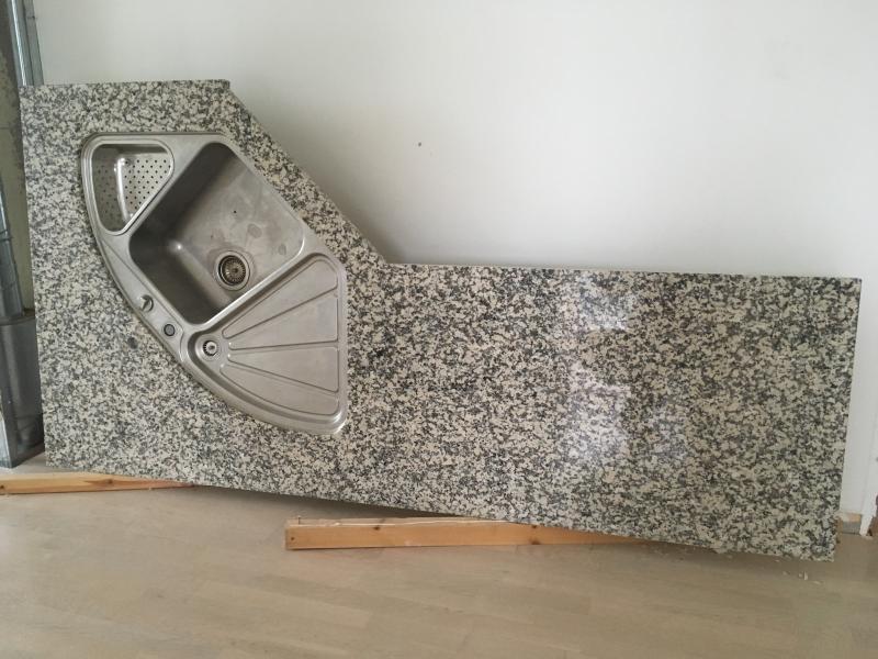 Granit bordplade med vask