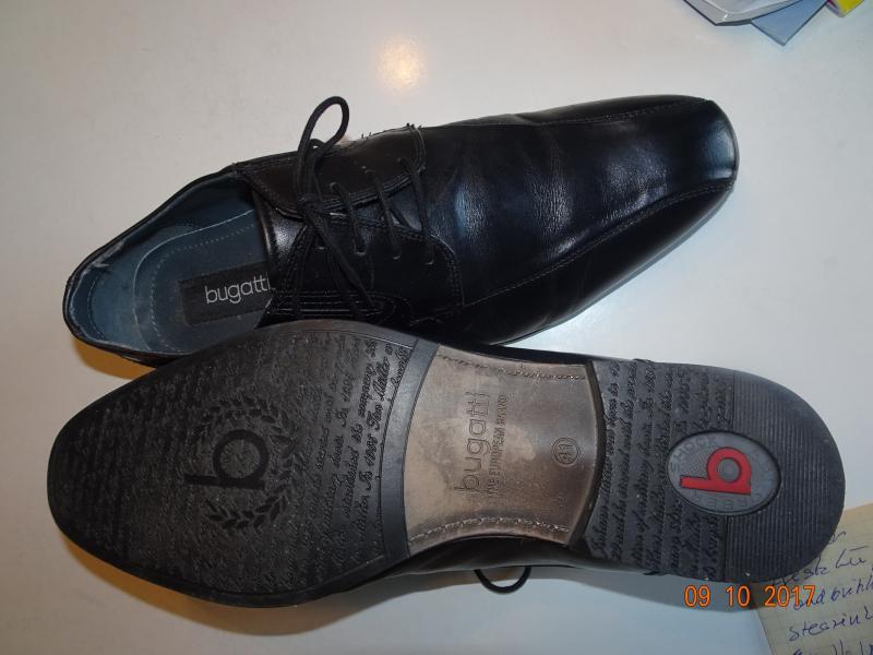 "Herresko størrelse 41 - Danmark - Elegant sort herresko ""Bugatti"", kun brugt en gang - Danmark"