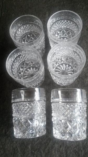 Whisky karaffel m.m. - Danmark - Bohemia krystal ( Czechoslovakia). 6 stk. whisky glas + karaffel. Nyt! - Danmark
