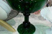 Kæmpe grøn glas opsats