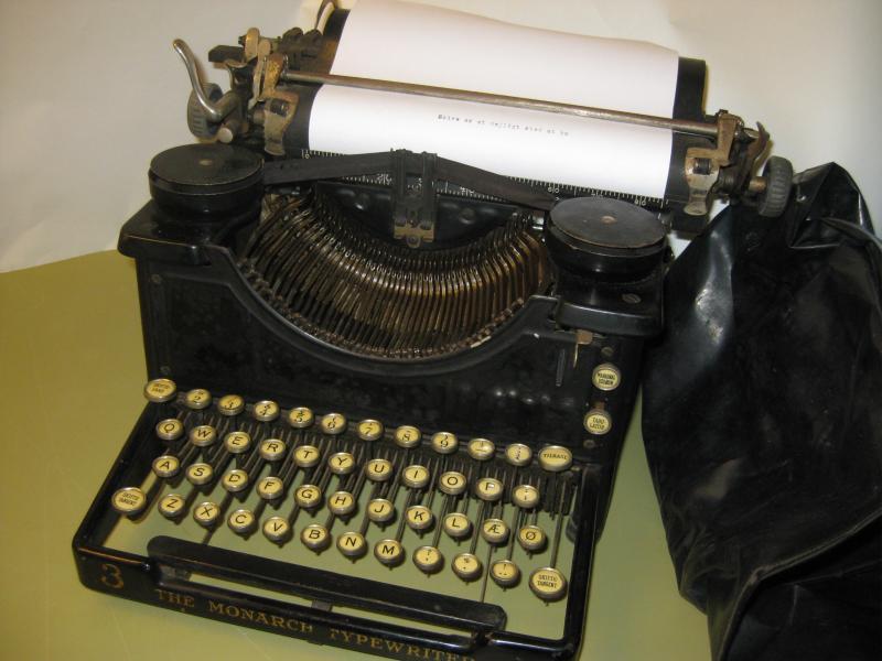 Skrivemaskine Monarch gammel