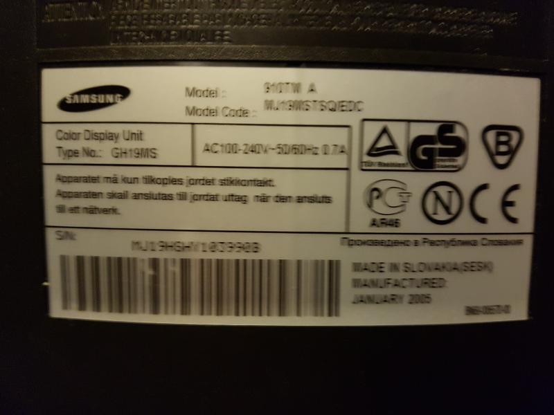 Samsung SyncMaster 910V – LCD