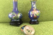 Cloisonne emaljeret metal vase