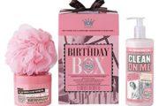 Shower gel, body lotion, svamp