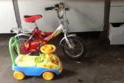 Børnecykel og gåvogn