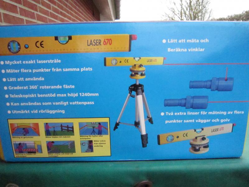 Laser vaterpas - Danmark - Ny og ubrugt laser vaterpas m/trebens stativ - Danmark