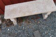 granit havebænk