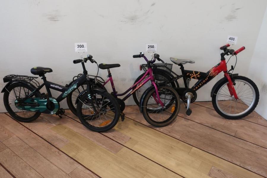 Børnecykler modtages