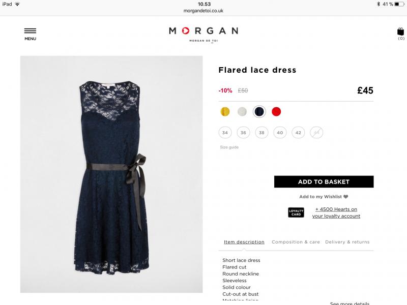 Kjole fra Morgan de Toi