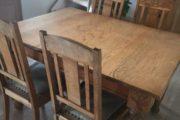 Egetræs spisebord m/6 stole