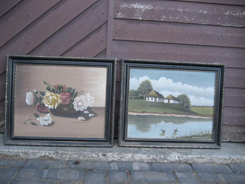 2 gamle malerier
