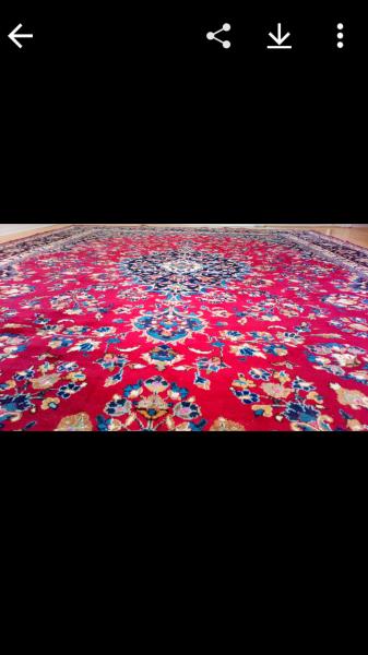 ægte håndknyttet persisk tæppe
