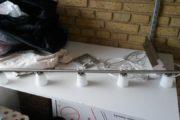 spisebordlampe med fem halogen