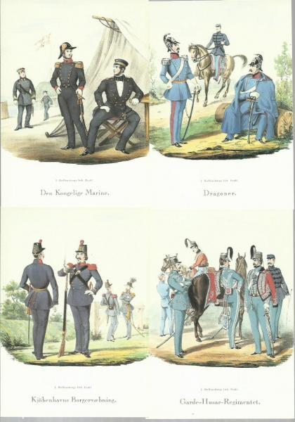 Postkort med soldater