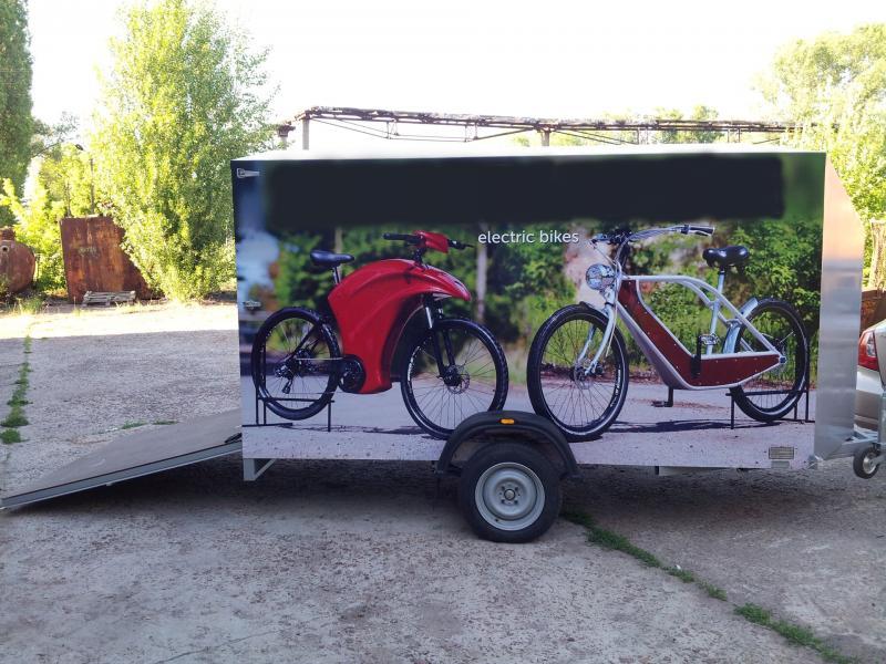 Standaard motorfiets trailer