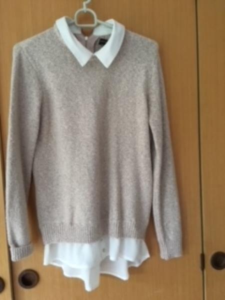 Trøje med integreret skjorte