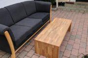 Sofa + sofabord