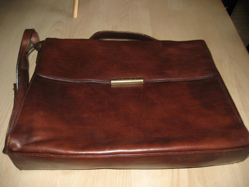 adaxtaske - Harrevigvej 2 - Adax brun læder taske 36 x 27. meget velhodt - Harrevigvej 2