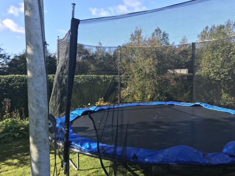 Trampolin 430 cm brugt