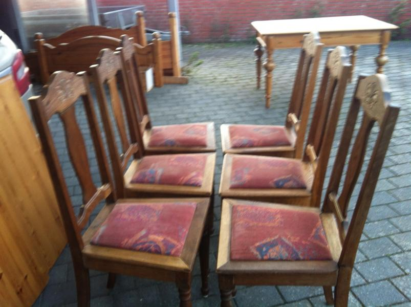 Spisebordsstole i eg