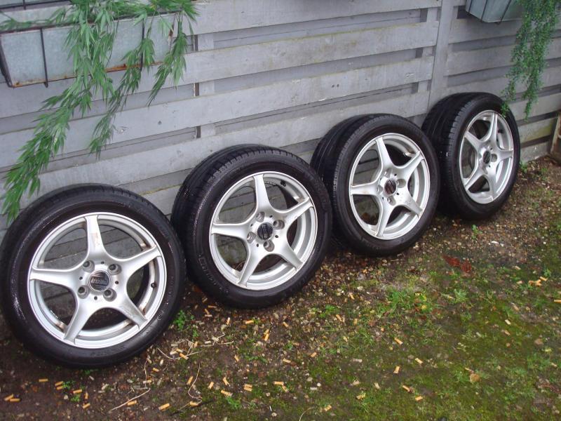 15″ 114.3 - Furvej 17, Selde - 4 fælge med dæk. Michelin 195/50R15. 4-5mm mønster - Furvej 17, Selde