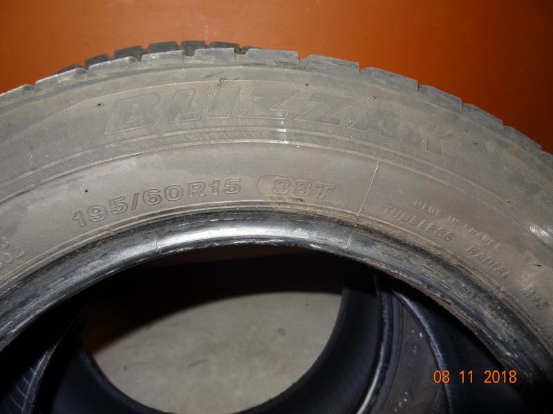 Vinterdæk - Sønder Hald Vej 23 - 2 stk Bridgestone blizzak 195x60x15 uden skader 4-5 mm - Sønder Hald Vej 23