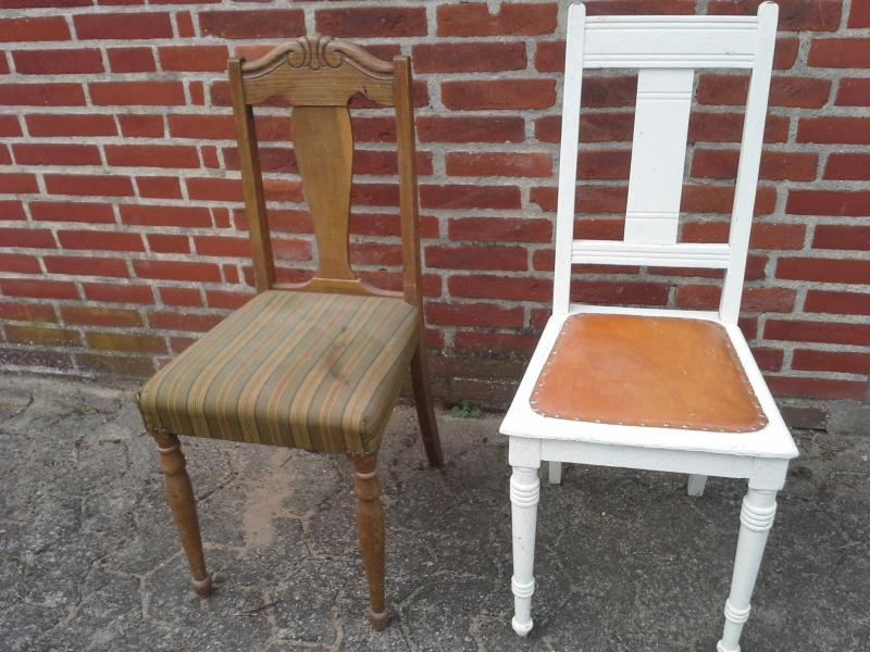 4 gamle stole - Skive - 4 gamle stole, pr stk 50 samlet kr 150 - Skive