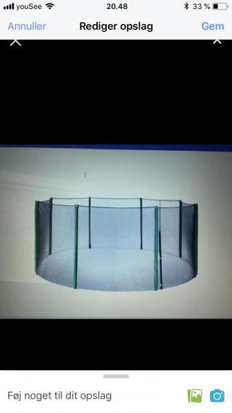 Nyt sikkerhedsnet t trampolin - Roslev By - Sikkerhedsnet til trampolin HELT NYT Ø426xH193 grøn. Aldrig brugt. Kassen kun åbnet. Helt nye stænger medfølger også - Roslev By